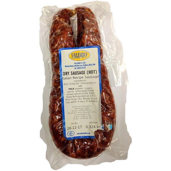 Valerio - Dry Sausage ( Hot ) - The Italian Shop - Free delivery