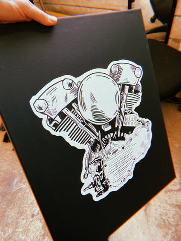 Knucklehead shop art