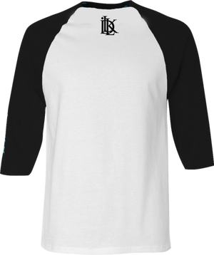 baseball tee, black and white raglan