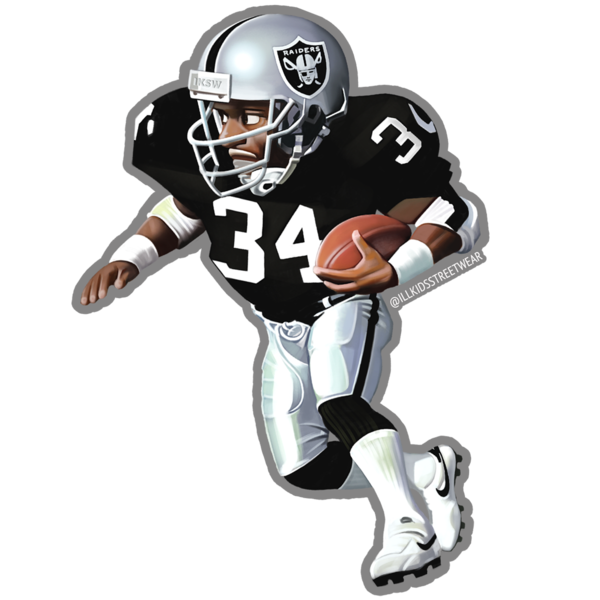 Raiders sticker, Bo Jackson