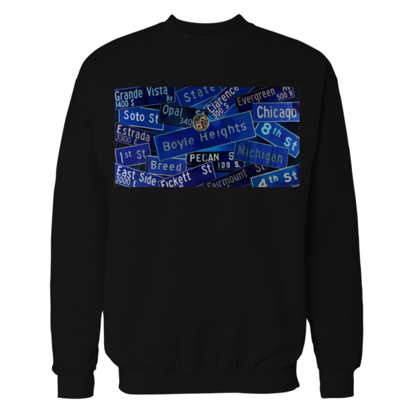 Boyle Heights Crewneck -Street Signs