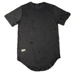 C&S Distressed Black Scoop Shirt