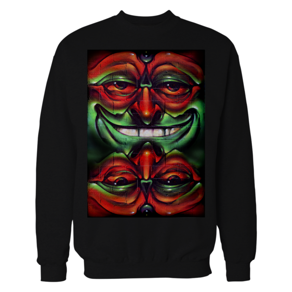 black graffiti crewneck
