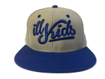 IKSW Revamped Logo -Grey/ Royal Blue Snap Back