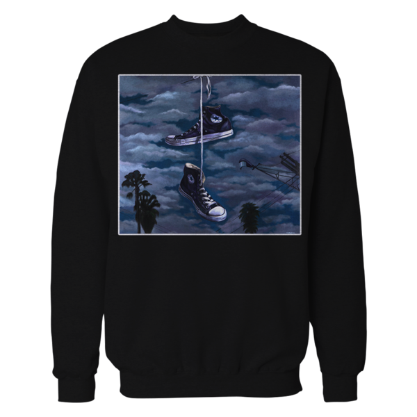 mens black crewneck sweater