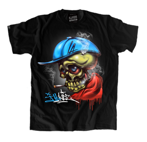 Smoking skull shirt