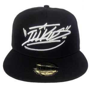 black snapback, graffiti hat