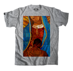 Virgin Mary T-Shirt, Grey religious tee