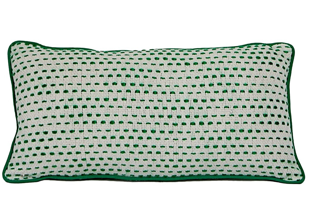 Cotton Emerald Green White 30 x 60 Rectangle Acrylic Woven New Zealand Australia