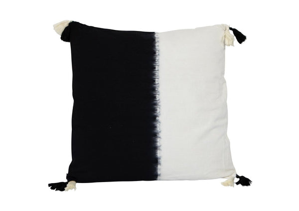 Cotton Square Black White Tie Dye Cushion 50cm x 50cm New Zealand Australia