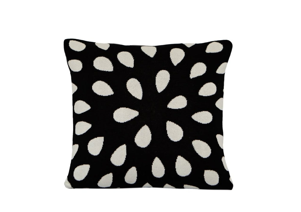 Cotton Woven Seed Design Black White Square Cushion New Zealand Australia