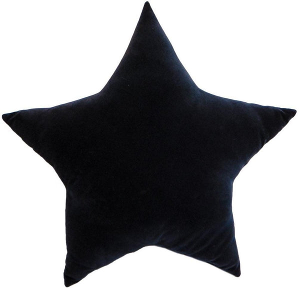 Cotton Velvet Star Black 60cm Cushion New Zealand Australia