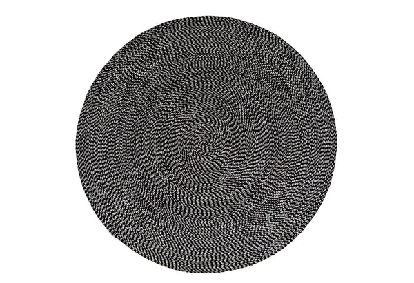 Cotton round black white rug 150cm 120cm New Zealand Australia