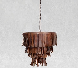 Brown / Black Leather Pendant Light