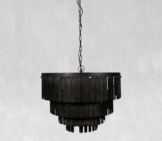 Rectangle Iron Chip Pendant Light