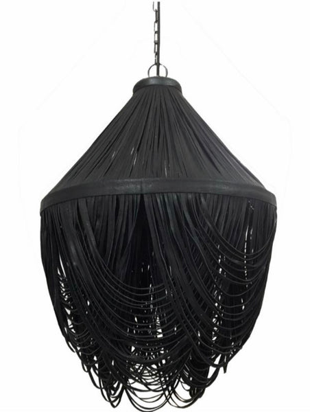 Leather Drop Pendant Light