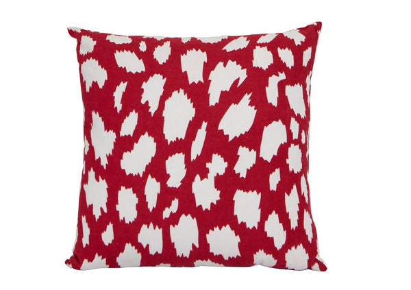 hundred percent cotton red white print cushion cover insert 50 x 50 Pinata Kids Australia New Zealand