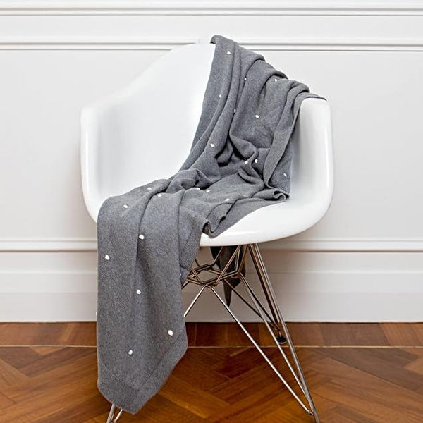 Cotton Woven Grey Throw New Zealand