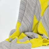 Cotton Woven Grey  Yellow Throw New Zealand