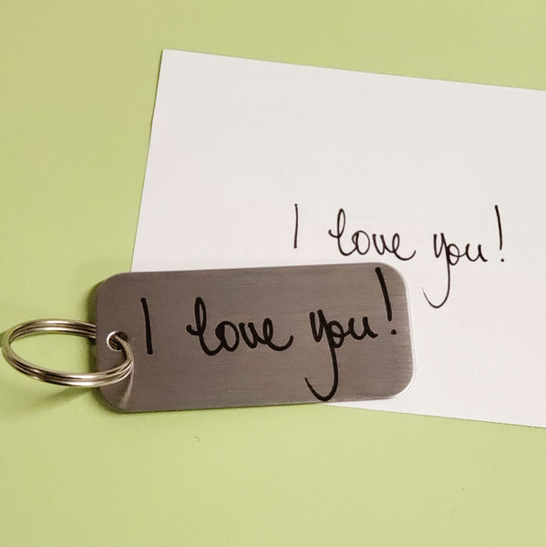 Personalized Metal Tag Keychain