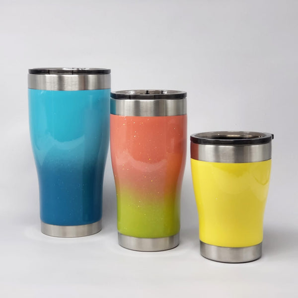Painted Personalized Tumblers or Hydrofit Water Bottles