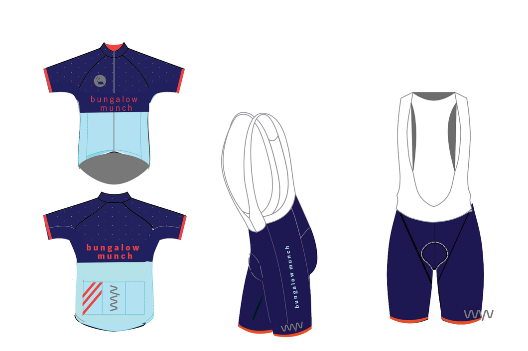 Cycling kit and running jersey