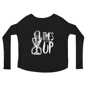 Ladies' Long Sleeve Tee-Konsnt-Times Up