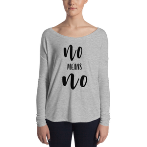 No Means No - Long Sleeve Tee-Long Sleeve-Konsnt-Times Up
