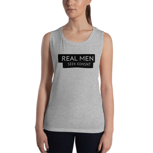 Real Men Seek KONSNT - Muscle Tank-Tank Top-Konsnt-Times Up