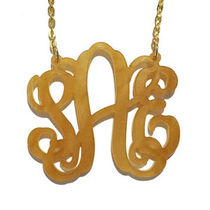 Vine Monogram Necklace