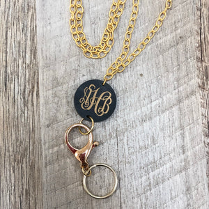 Lanyard • Monogram Engraved