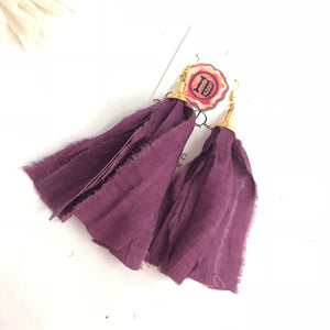 Sari Silk Earrings