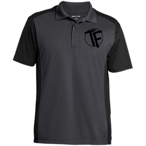 TYFE Gray/Black Men's Colorblock Sport-Wick Polo
