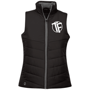 "TYFE Ladies' Quilted Vest w/White ""TF"" Logo"