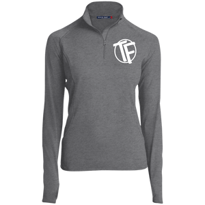 "TYFE Women's 1/2 Zip Performance Pullover w/White ""TF"" Logo"
