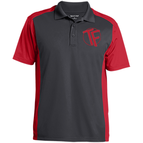 TYFE Gray/Red Men's Colorblock Sport-Wick Polo