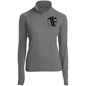 "TYFE Women's 1/2 Zip Performance Pullover w/Black ""TF"" Logo"