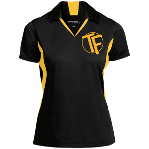 TYFE Black/Gold Women's Colorblock Performance Polo