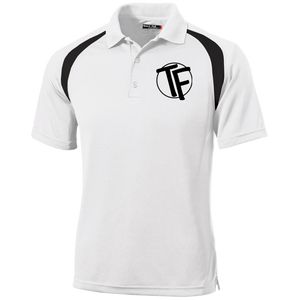 TYFE White/Black Men's Moisture-Wicking Golf Shirt