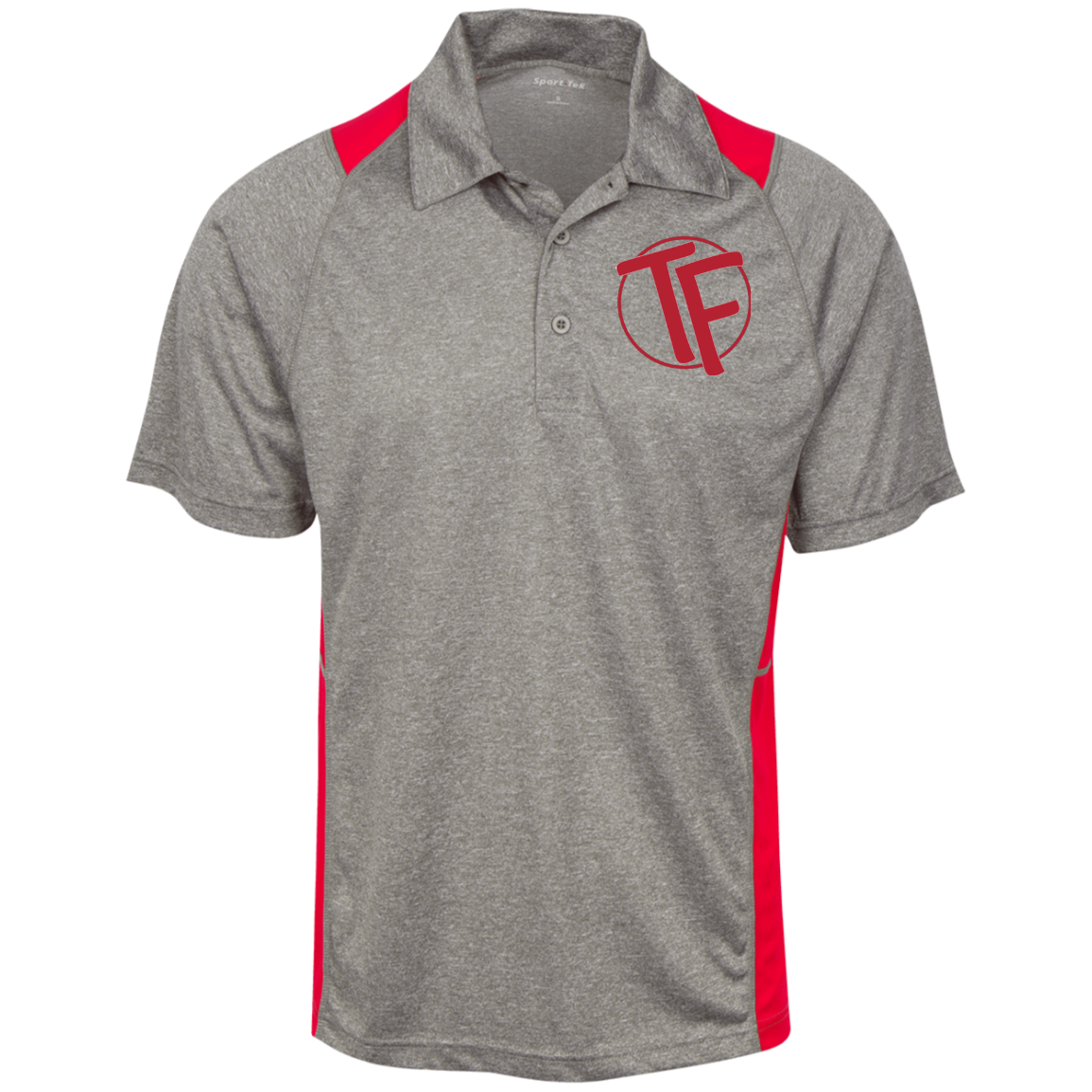 TYFE Gray/Red Men's Moisture Wicking Polo