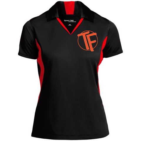 TYFE Black/Red Colorblock Performance Polo
