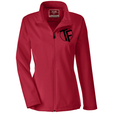 "TYFE Ladies' Soft Shell Jacket w/Black ""TF"" Logo"