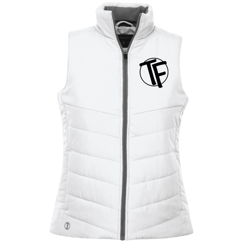 "TYFE Ladies' Quilted Vest w/Black ""TF"" Logo"