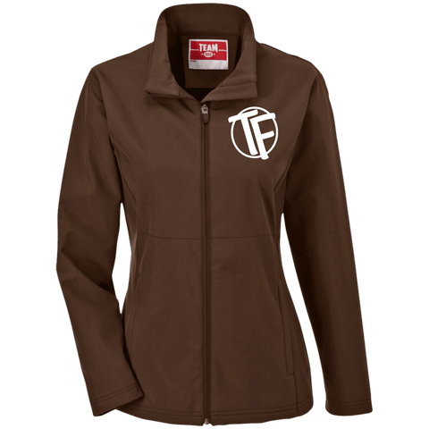 "TYFE Ladies' Soft Shell Jacket w/White ""TF"" Logo"