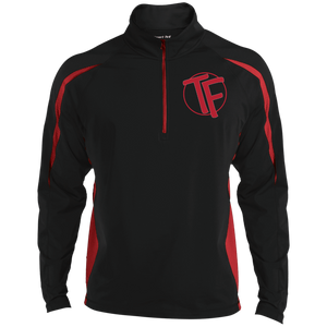 TYFE Men's Embroidered Sport Wicking Colorblock 1/2 Zip