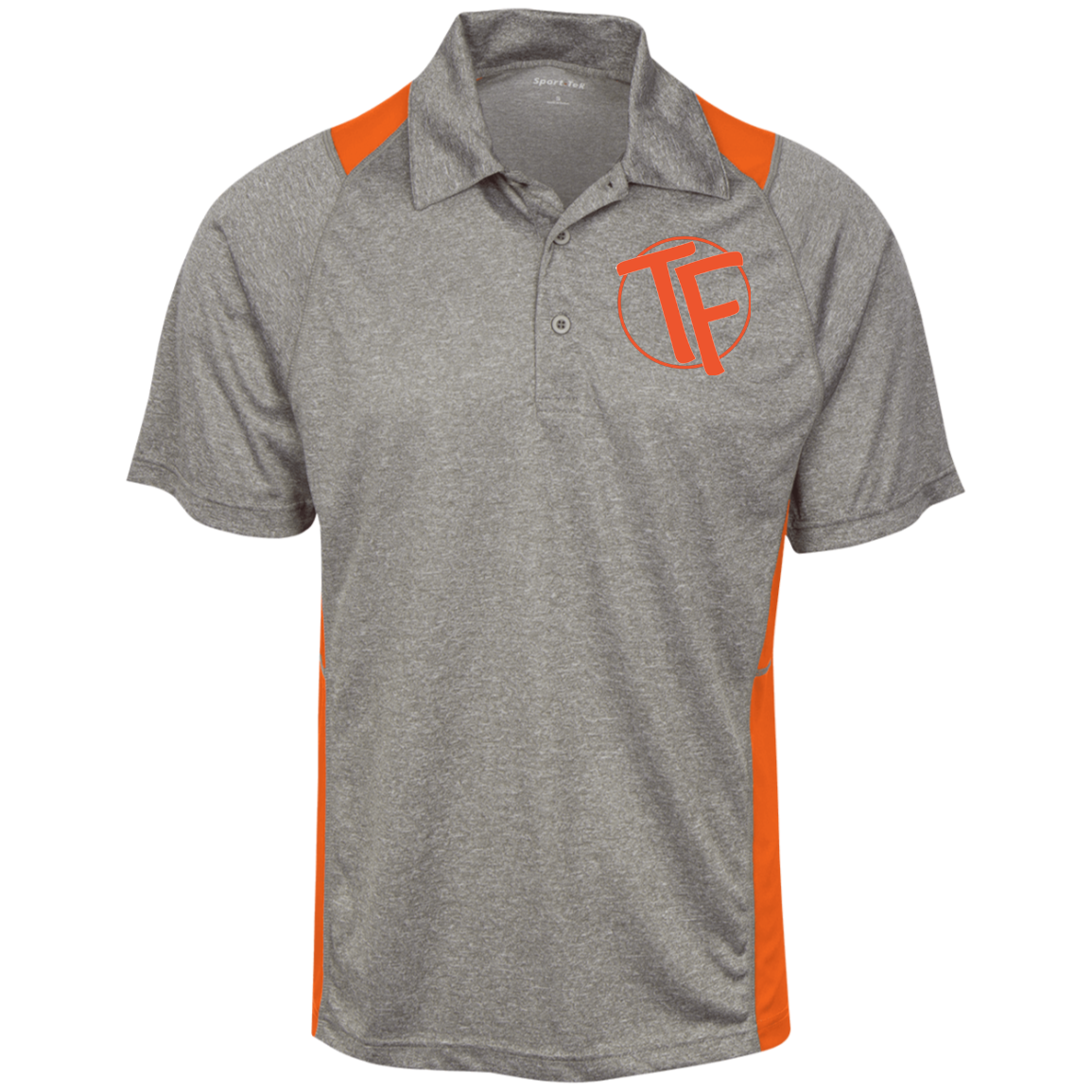 TYFE Gray/Orange Men's Moisture Wicking Polo