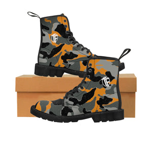 TYFE Women's Black and Orange Camo Sport Boots