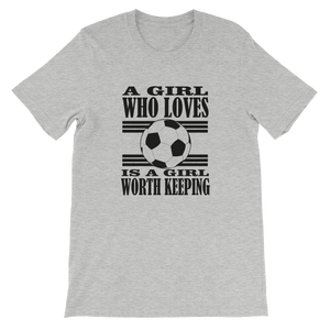 A Girl Who Loves Soccer.......  T-Shirt