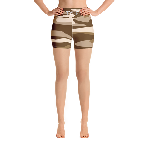 TYFE Brown Camouflage Yoga Shorts