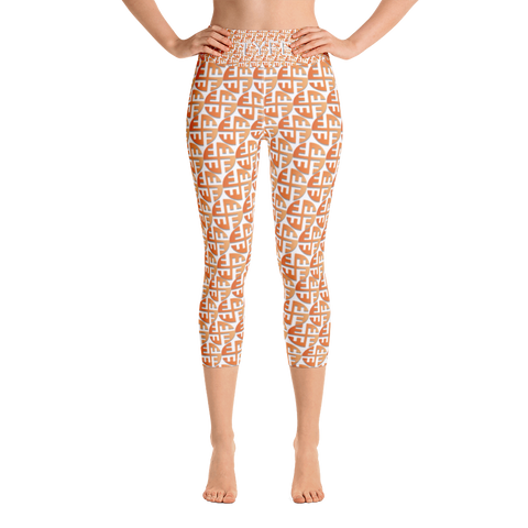 TYFE (Brown Circles) Yoga Capri Sport Leggings